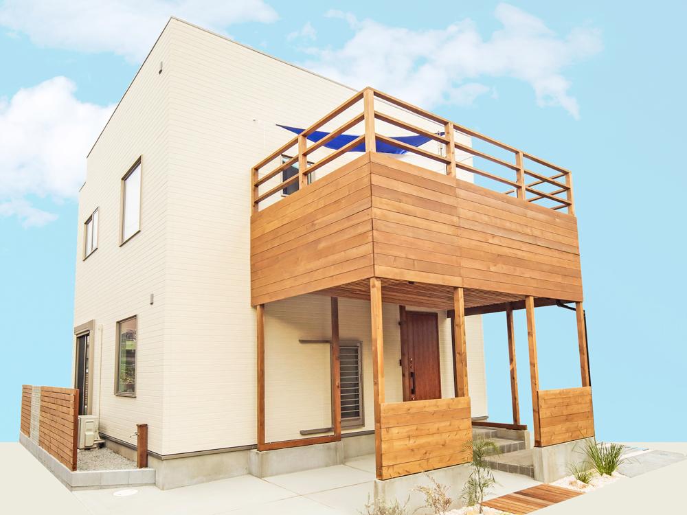ZERO-CUBE Veranping Style<br /> ベランピングも楽しめる大きなウッドデッキが魅力の家