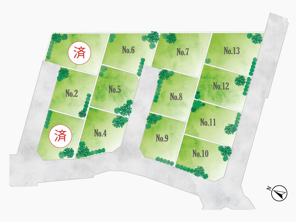 平塚市河内《売地》新規分譲!!【1,161万円~1,568万円】