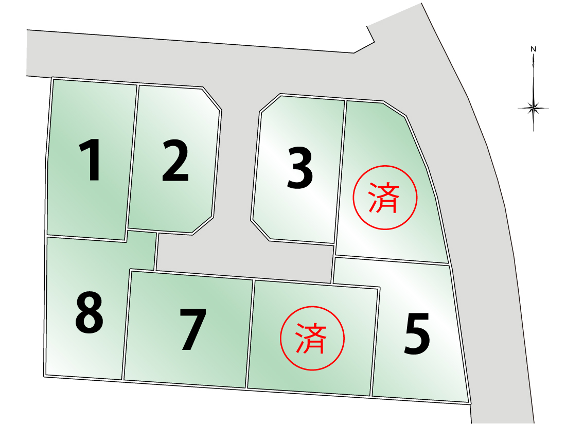大磯町生沢Ⅲ期≪売地≫新規分譲!【1,009万円~1,414万円】